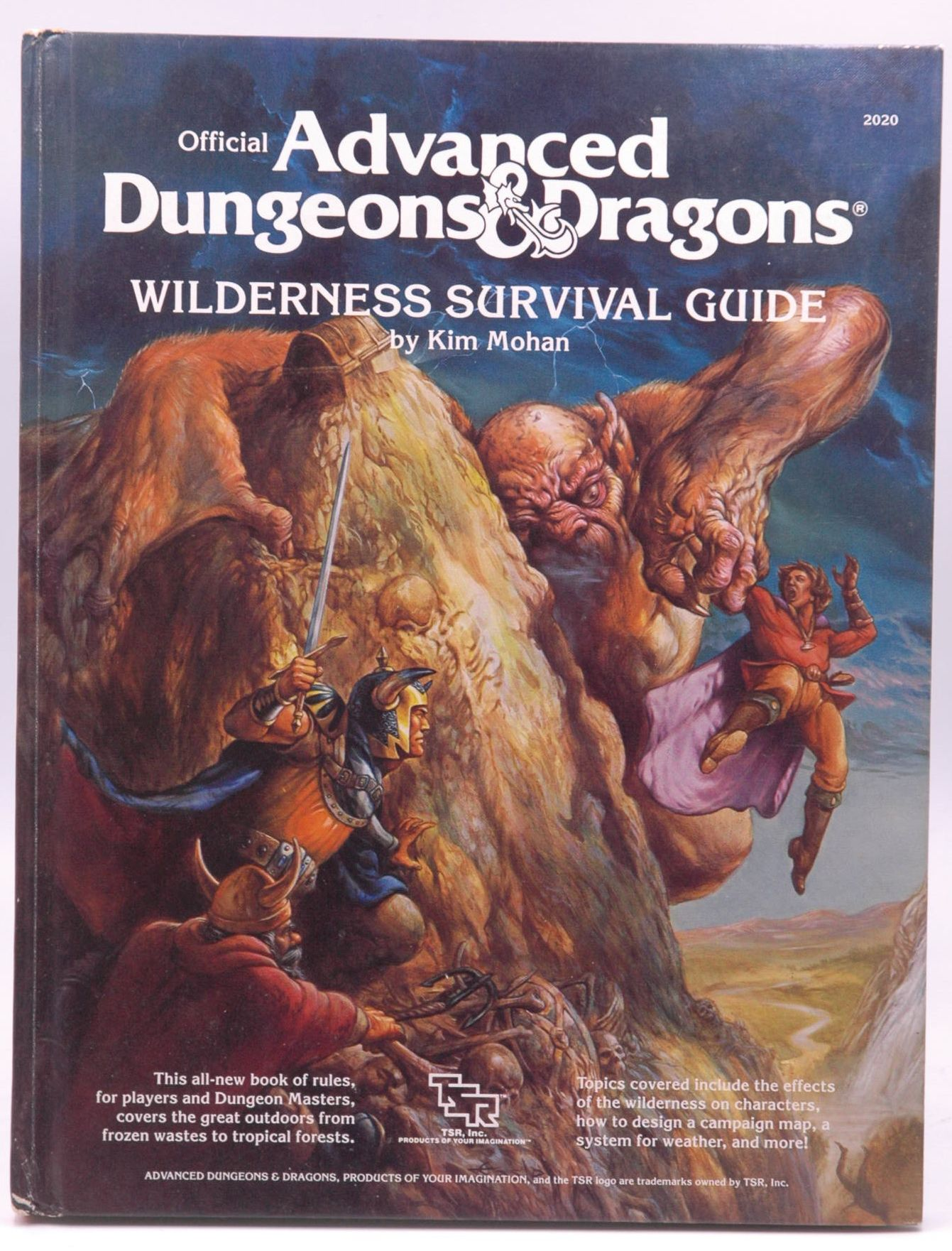 Official Advanced Dungeons and Dragons: Wilderness Survival Guide Kim Mohan AD&D